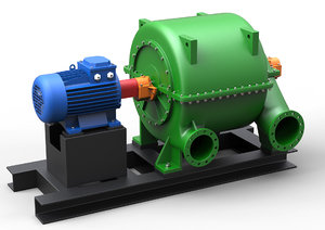 3D industrial compressor model