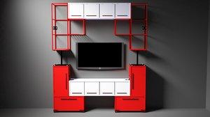 3D sideboard tetris model