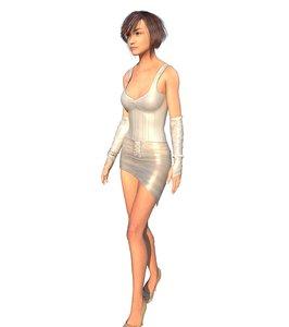 3D girl east asia