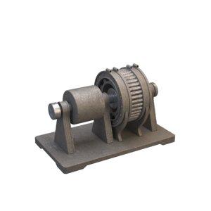 industrial electric motor 3D model