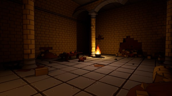 basic asset fantasy dungeon 3D model