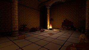basic asset fantasy dungeon 3D model