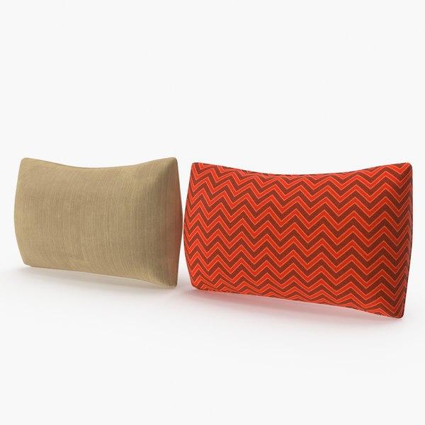 3D model rectangular pillows set