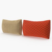 Rectangular Thick Pillows Set 03