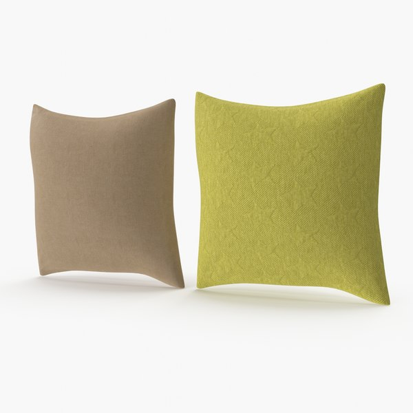 squere pillows set 04 3D model