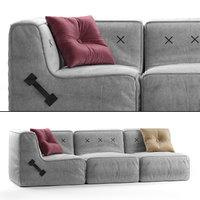 3D model koskela quadrant soft sofa