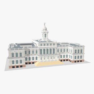 3D model new york city hall