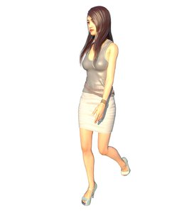 3D realistic girl east