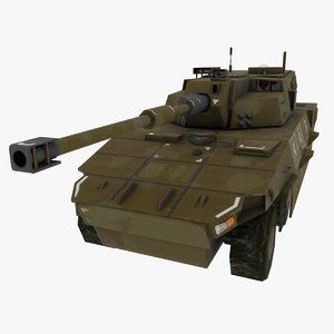 fictional pbr tank 3D model
