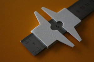 3D steel rulers model