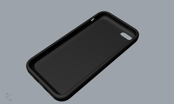 3D apple 5c black case model