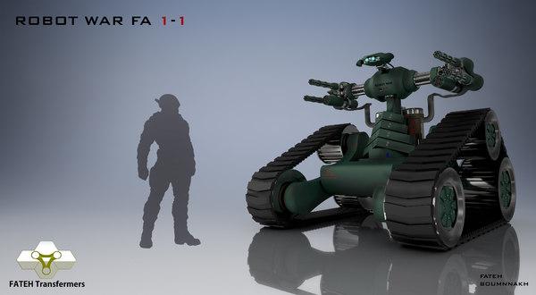 3D robot war 1-1