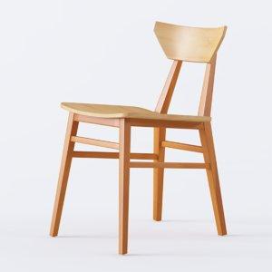 tauro chair wood 3D