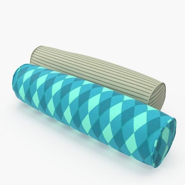 3D bolster pillows set 05