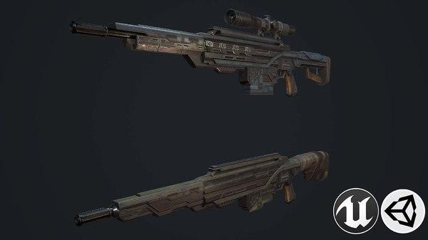 weapon gun sniper 3D model