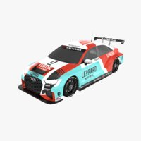 3D audi rs3 lms tcr model