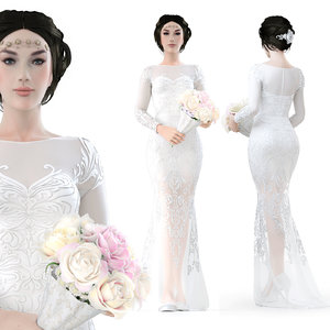 bride girl 3D model
