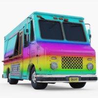 3D model truck food