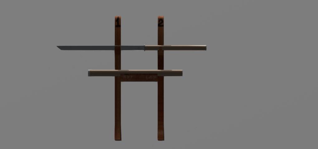 3D ninja sword model