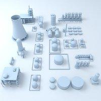 factory silos 3D model