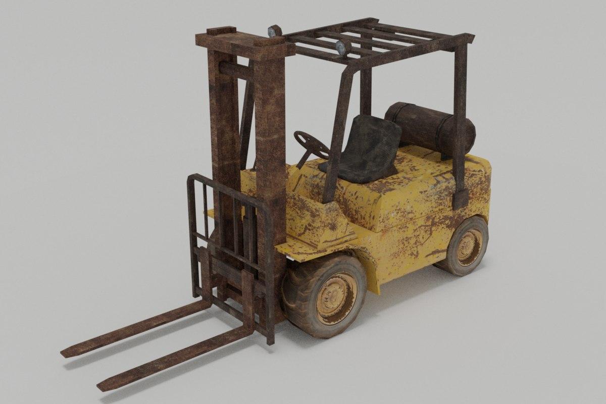3D model forklift old