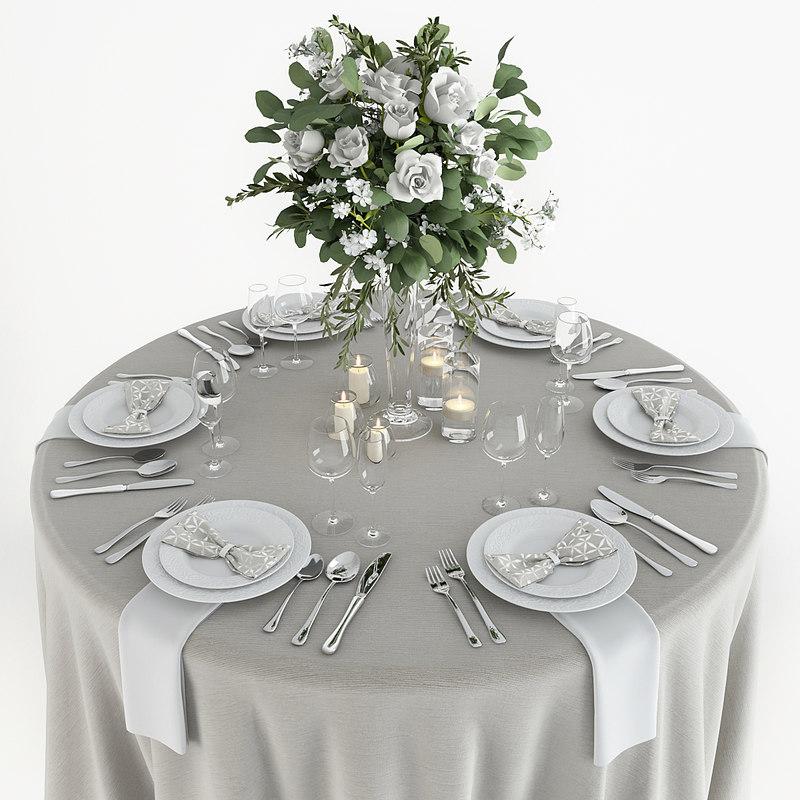 3D table setting