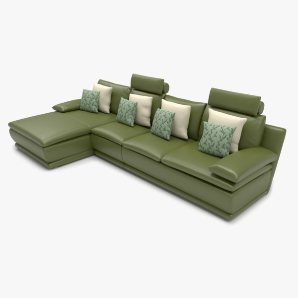 sofa l shape 3D model