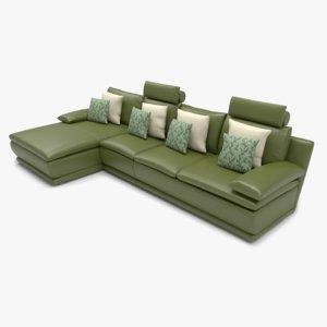 sofa l shape 3D model