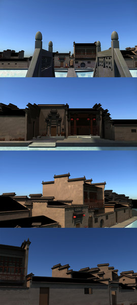 3D chinese architecture model