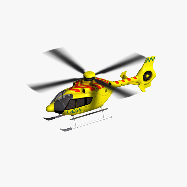 3D ec135 air ambulance