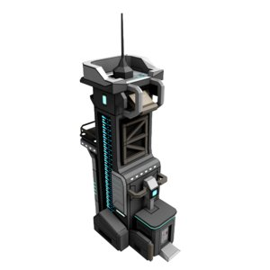 3D model sci-fi communication tower