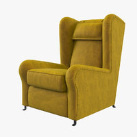 baxter pochette armchair 3D model
