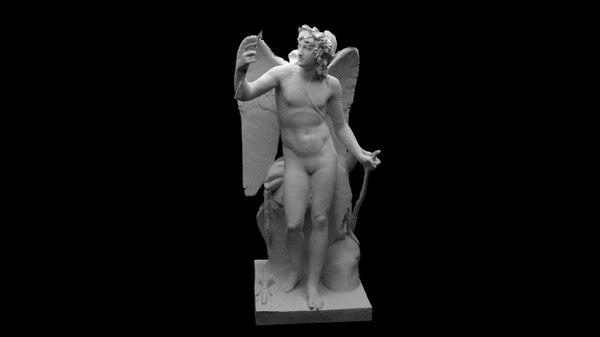 3D statue cupid model