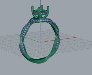 solitaire ring 3D model