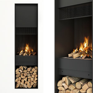 firewood fireplace model