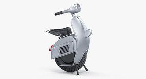 monowheel electric scooter 3D model