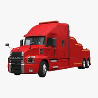 mack anthem recovery truck 3D