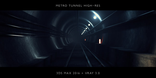 3D rapid transit tunnel model