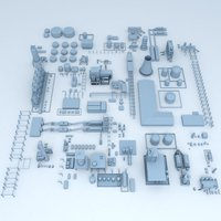 Factory Building Industrial Elements