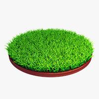 3D model grass vrayfur