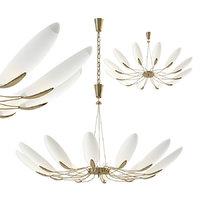 3D chandelier attributed stilnovo model