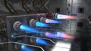 sci fi plasma engines model