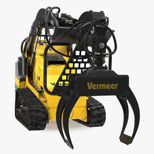 3D vermeer grapple mini skid steer model