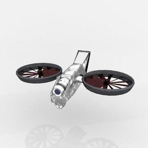 drone ufo sci fi 3D model