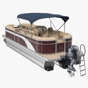 bennington sx25 pontoon boat 3D model