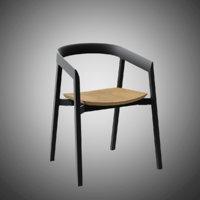 3D model mornington dining chair oak
