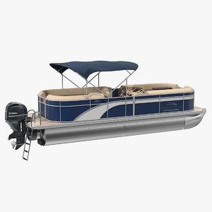 3D pontoon boat bennington sx25