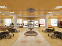 design hotel hall 3D