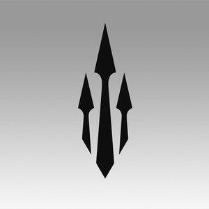 spartan sparta logo 3D
