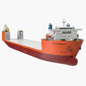 3D black marlin heavy lift model